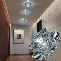 LAIMAIK Crystal Led Ceiling Lights Aisle Living Room Balcony Lamp Modern Led Lighting AC90 260V 3W