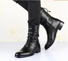 Men's shoes Fashion Trend Boots PU Leather Boots Vintage Denim Boots British Style Chain Boots Size 39-44166
