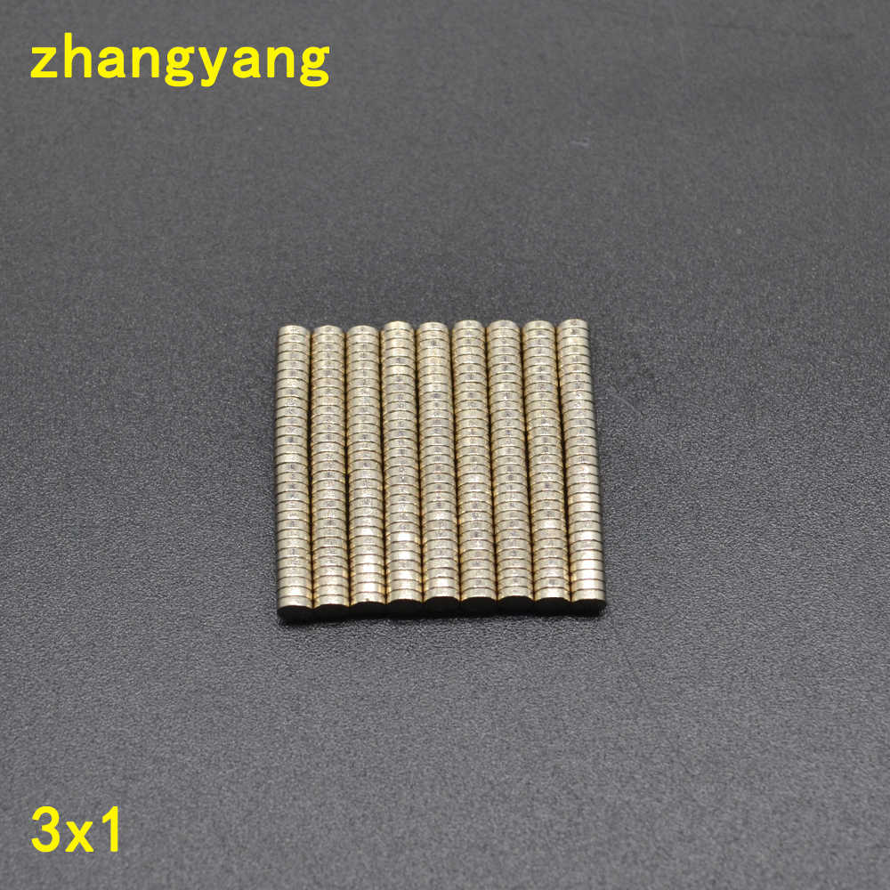 500 pcs 3*1 3x1 Massal Kecil Putaran Neodymium Magnet 3mm x 1mm N35 Super Powerfull Kuat Rare Earth NdFeB Magnet 3mm * 1mm 3*1mm