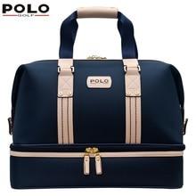 020414 POLO Golf double clothing shoes bags mens golf apparel travel bag bolsas zapatos double garment High-capacity package