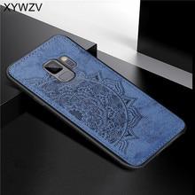 Para Samsung Galaxy S9 suave funda de silicona TPU de lujo de tela textura dura PC funda de teléfono para Samsung Galaxy S9 cubierta para Samsung S9