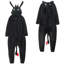 Anime How to Train Your Dragon Toothless Cosplay Costume Jumpsuit Pajamas