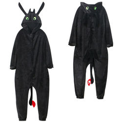 Anime cómo entrenar a tu dragón sin dientes Cosplay traje mono pijama