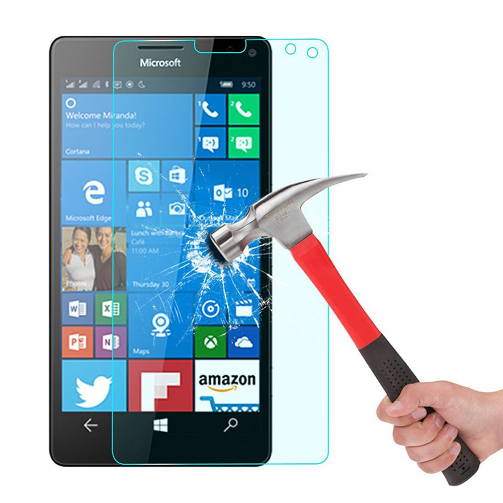2PCS 0.026mm Tempered Glass Protective Front Glass Film Screen Protector For Microsoft Lumia <font><b>Nokia</b></font> 1020 <font><b>1320</b></font> 1520 N1020 N1320 image