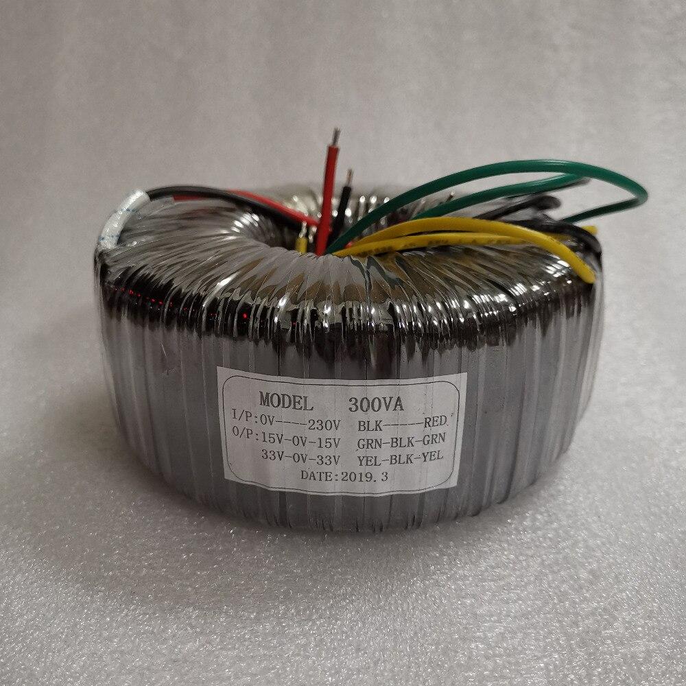 300 ワット純粋な銅トロイダルトランスデュアル 33 V + デュアル 15 V 電源トランス  グループ上の 家電製品 からの アンプ の中 1