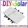 Сетевой инвертор MPPT 1200 Вт  36В 120В  22-50в постоянного тока для AC80-160V  инвертор с чистой синусоидальной волной  солнечная система для домашнего и...