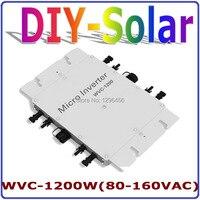 1200 W MPPT Grid Tie Omvormer 36 V 120 V  22-50VDC om AC80-160V Pure Sinus Omvormer 1200 W Thuisgebruik zonnestelsel