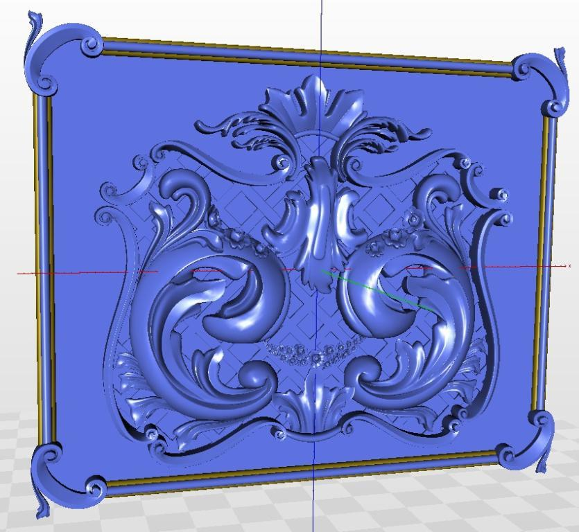 3d  model relief  for cnc  in STL file format Decor_10 for cnc in stl file format 3d model relief rosette 54