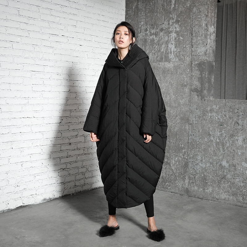 Femmes Casual Long Chaud De Duvet Oversize Nouvelle Veste Black Collection Blanc Hiver À Capuchon Canard 2018 X orange Manteau silver Épais txqTzWA