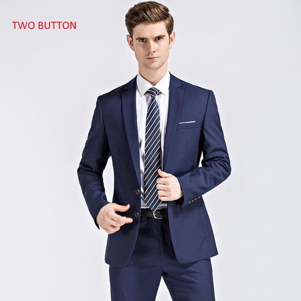 blue with 2 button