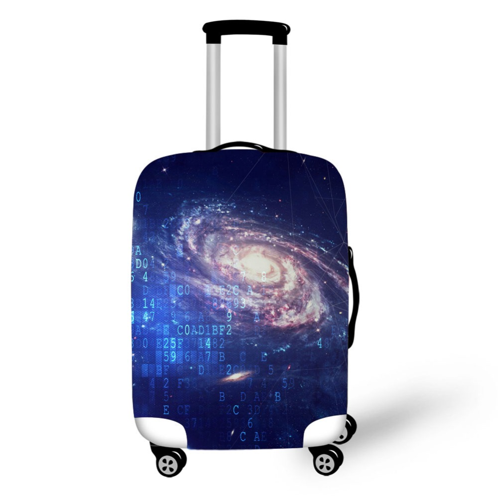 Cosmic Print travel accessories suitcase protective covers 18 30 inch elastic luggage dust cover case stretchable Waterproof in Travel Accessories from Luggage Bags