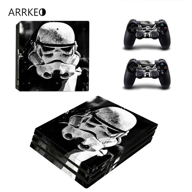 Us 1004 22 Offarrkeo Star Wars Vinyl Abdeckung Aufkleber Ps4 Pro Haut Aufkleber Für Sony Playstation 4 Pro Konsole 2 Controller Aufkleber Zubehör