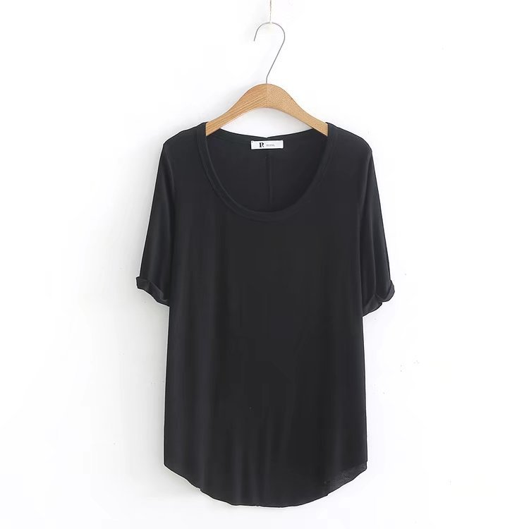 2018 T-shirts with short sleeves Summer new women's leisure small bodysuit round neck