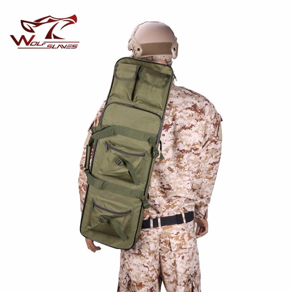 85 cm tactique double Air fusil pistolet sac sac à dos militaire Paintball couverture unique épaule poche CS Airsoft fusil de chasse sac de transport