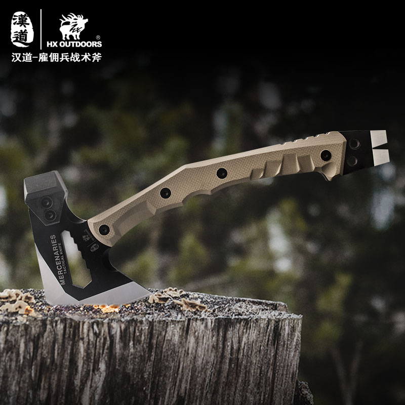 HX OUTDOORS FT-02 Outdoor Tactical Engineer Axe,Weapon Field Camp Axe, Mountain Axe Outdoor Camping Axe axe