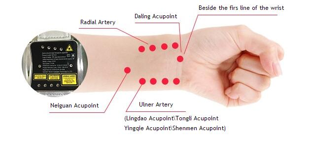 Lastek wrist watch 650nm low level laser acupuncture therapeutic apparatus монокуляр veber 10 25x42 wp