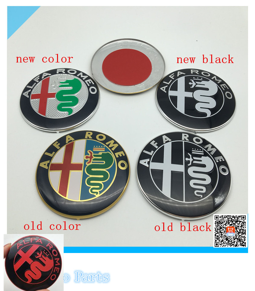 74mm Black White Alfa Romeo Car Logo For Mito 147 156 159 166 Symbol Giulietta Spider Gt Emblem Badge Sticker 10pcs Lot Free Shipping In Stickers From
