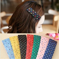 2 pcs Cloth hairpin Sweet little dot hair clip side hairpin Korean hair accessories bangs clip Cute Headwear