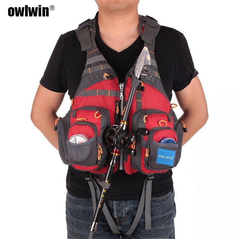 Owlwin life vest life jacket fishing vest outdoor sport fishing jacket men respiratory jacket safety vest survival utility vest