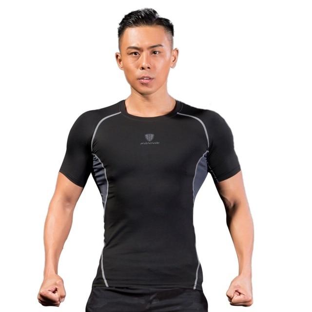 Men Professional Outdoor Running Summer Short Sleeve Male Quick-drying breathable skinny T-shirt Men Slim Tops