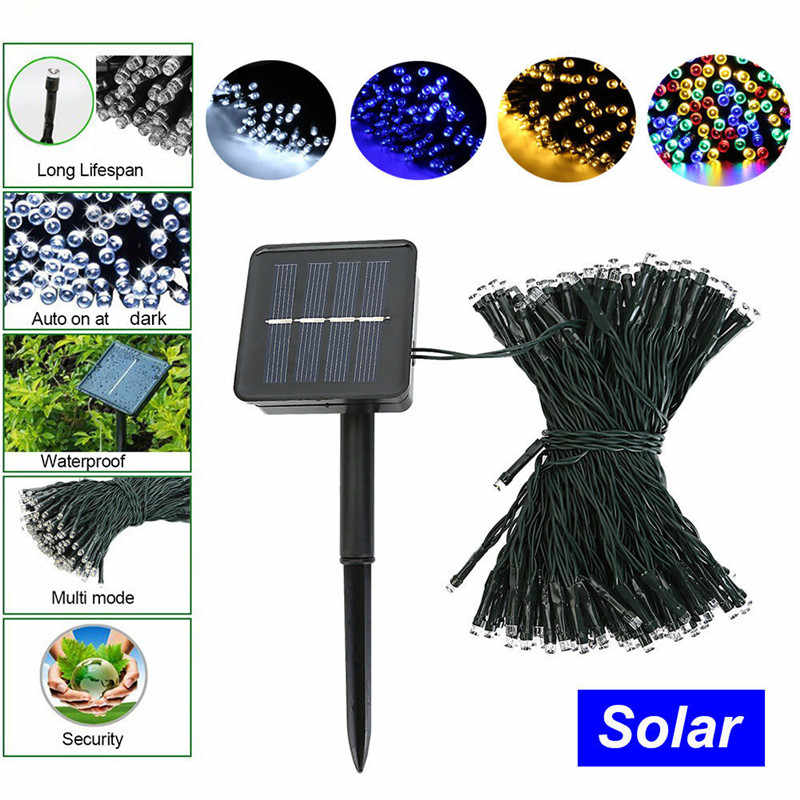 solar LED String Light Christmas light Garland 50/100 LED Fairy Lights With Battery Outdoor Garden Party Tree Wedding Decor