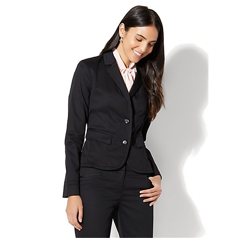 Black Womens Business Suits 2 Piece Two Button Female Office Uniform Elegant Pant Suits Womens Tuxedo Ladies Winter Formal