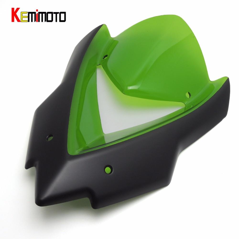ФОТО Z1000 Windscreen Windshield Cowl for Kawasaki Z1000 2014 2015 Motorcycle Accessories
