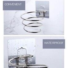 Нержавеющая сталь фен стойки настенные водонепроницаемые полки для хранения для ванной комнаты принадлежности#3
