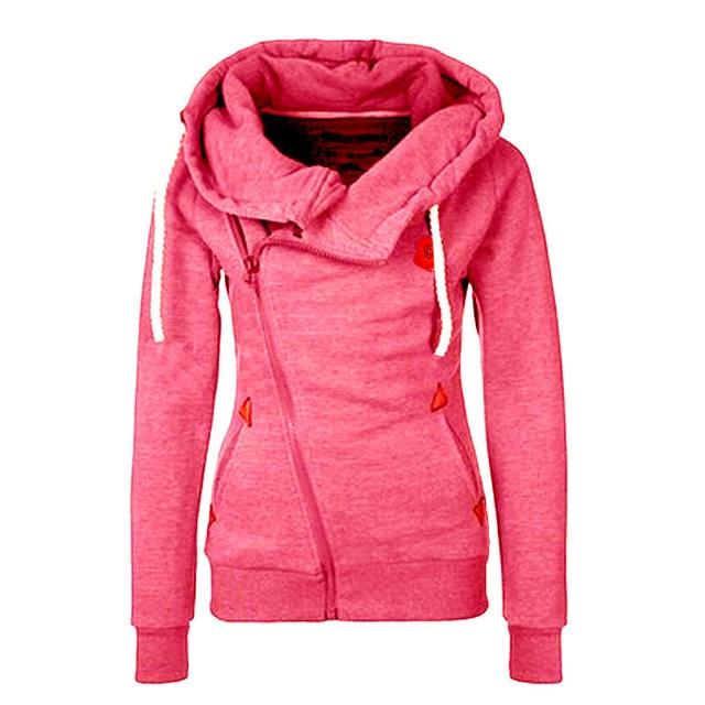 2016 Women Hoodies Sweatshirts Zipper Design Thicken Female Hoodies Hooded Causal Women Hoody Hoodies Sweatshirts