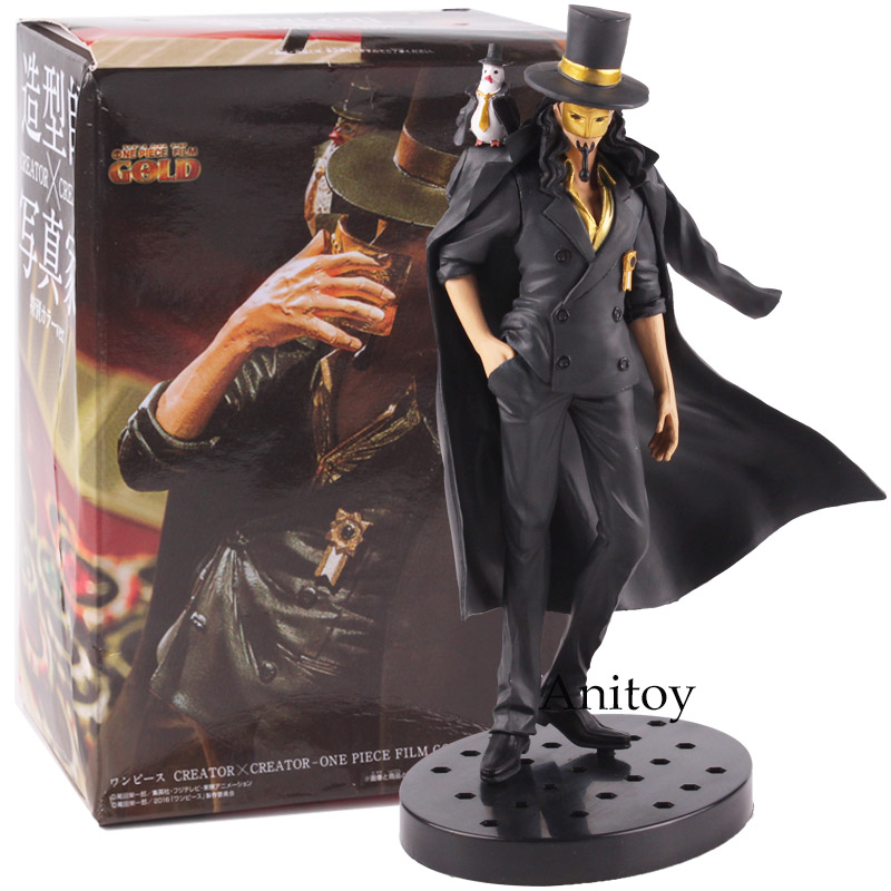 Criador x Criador Rob Lucci One Piece Film PVC Ouro Anime Estatueta Ação One Piece Figura Collectible Toy Modelo