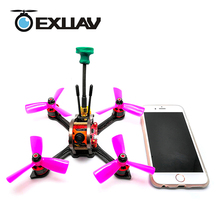 EXUAV MX3 FPV Racing Drone Package with LED 139MM Wheelbase 3mm Arm Carbon Fiber Frame X Structure RC DIY MIni Toys 276g