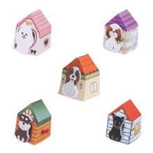 Dog House Memo Pads Sticky Notes Writing Paper Notepad Home Office Stationery(China)