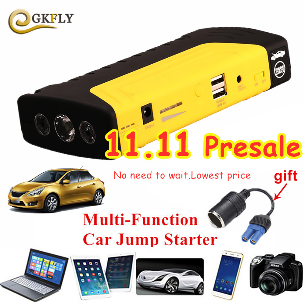 Mini Best Car Jump Starter Portable Power Bank Car Charger for Petrol/Diesel Cars Starter Car Emergency Auto Battery Booster led portable car jump starter 50800mah petrol car 12v emergency auto battery booster pack vehicle jump starter phone power bank
