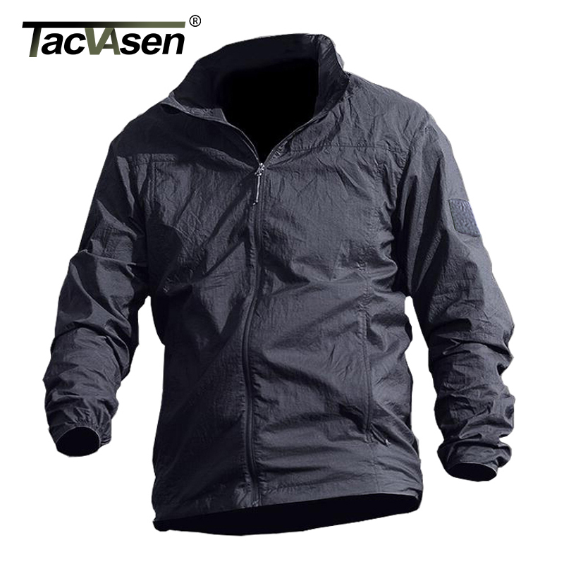 Image 1 - TACVASEN Summer Waterproof Quick Dry Tactical Skin Jacket Men Hooded Raincoat Thin Windbreaker Army Military Jacket TD QZJL 013army military jacketmilitary jacketjacket men -