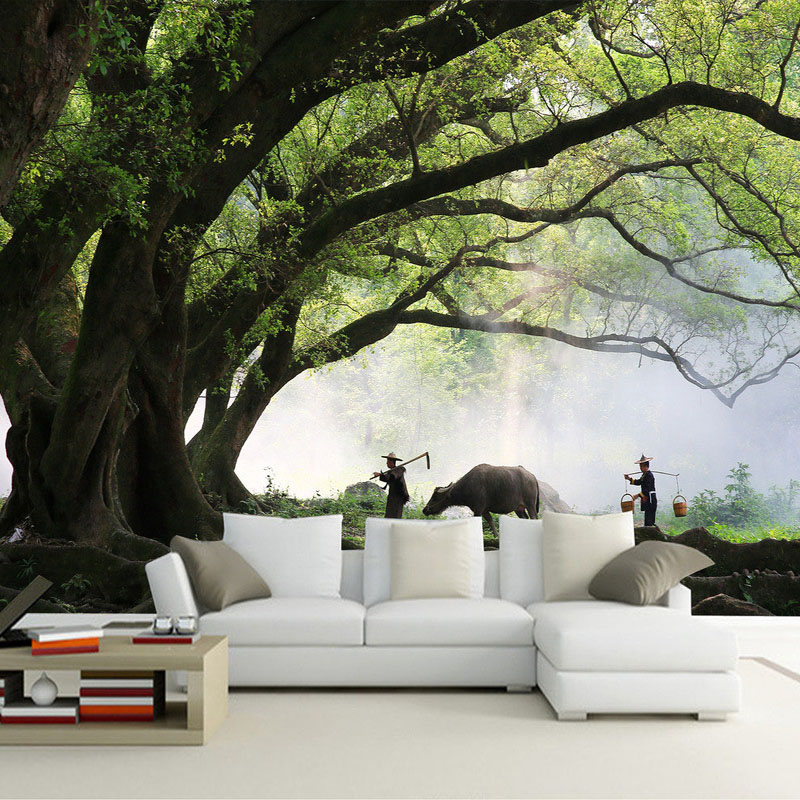 Custom 3D Photo Wallpaper 3D Wall Decorations Living Room Bed Room TV Backdrop Simple Modern Trees Mural Wallpaper De Parede 3D custom any size 3d mural wallpaper european modern minimalist bedroom living room tv backdrop abstract trees 3d photo wallpaper page 3