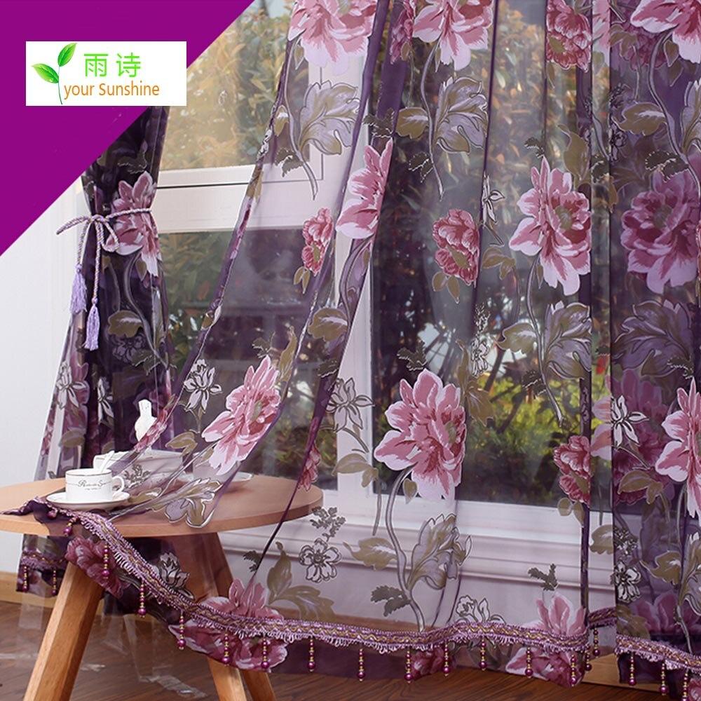 Compra cortinas de lujo online al por mayor de china for Cortinas transparentes salon