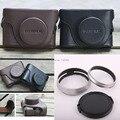 3ni1 1pcs Black Leather Camera Case Bag + Fujifilm Fuji X100 Finepix 1pcs Lens Hood Adapter Ring  + 1PCS 58MM Lens cap