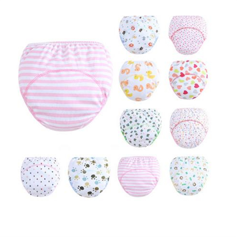 30Pc/lot The New Newborn Nappy Cloth Diapers Comfortable Cotton Baby Nappy Underwear Pants TRX0074
