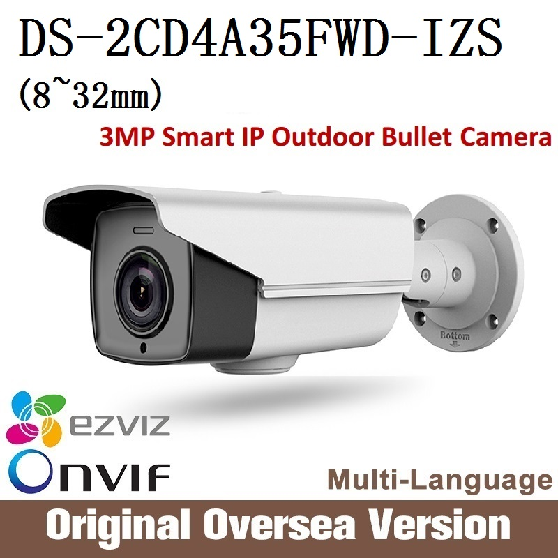 Hikvision DS-2CD4A35FWD-IZS 8-32mm darkfighter Smart IP Outdoor Bullet Camera Support 128G original English version upgrade hikvision ds 2de7230iw ae english version 2mp 1080p ip camera ptz camera 4 3mm 129mm 30x zoom support ezviz ip66 outdoor poe