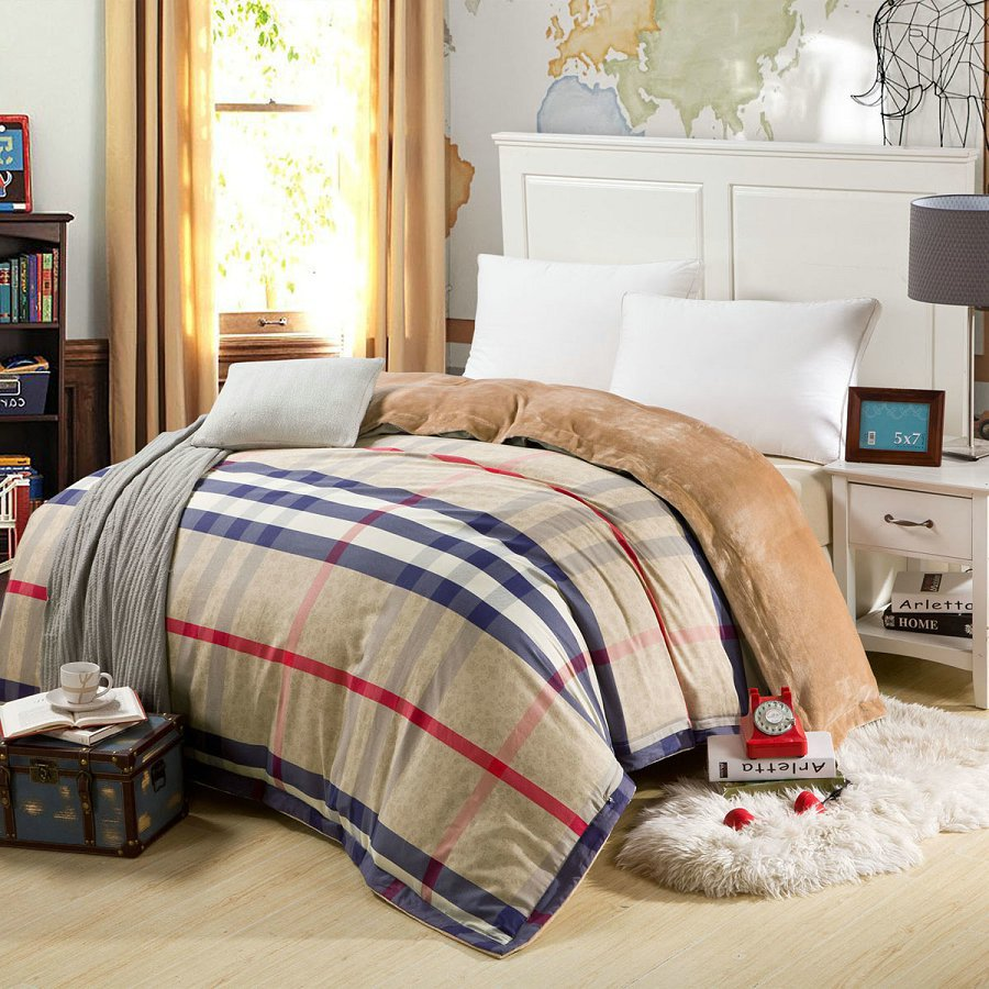 Luxury Bedding Linen Quilt Covers Winter Plaid Warm Cotton Bed Sheets Duvet  Covers Housse De Couette Adulte Funda Nordica Cama In Bedding Sets From  Home ...