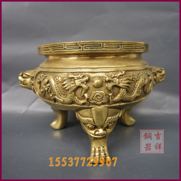 Bronze incense burner incense burner buddhism supplies Bronze customize sculpture  brass ssangyong crafts incense burner incense burners burner fashion - title=