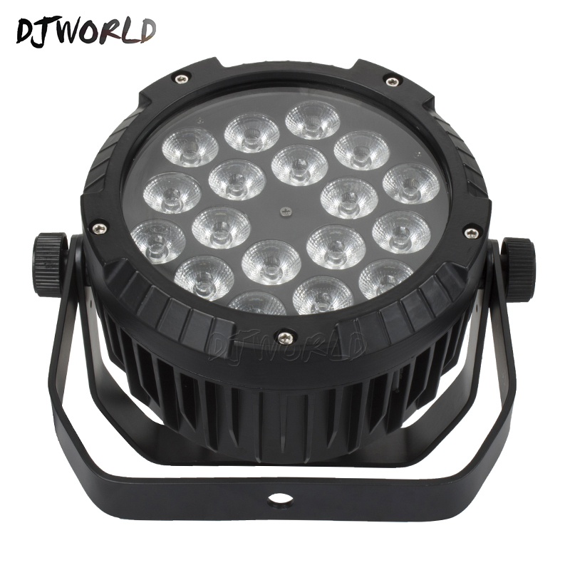 Stage Lighting Effect 10pcs Waterproof Led Flat Par 18x12w Rgbw Dmx512 Stage Effect Lighting For Outdoor Swimming Pool Dj Disco Party And Nightclub Commercial Lighting