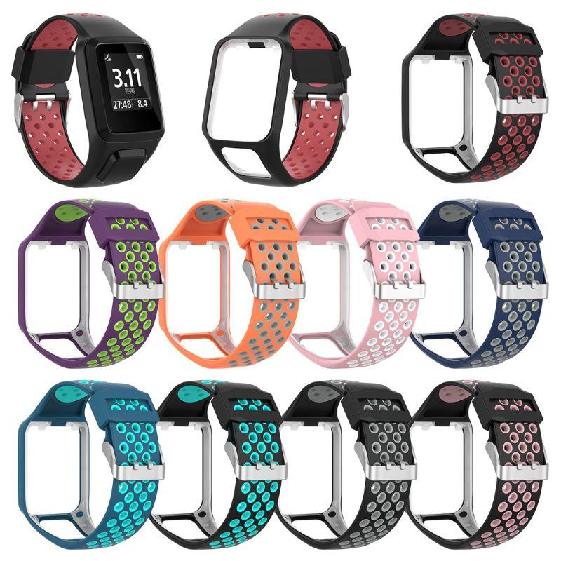 Bracelet de montre bracelet de remplacement en Silicone bicolore pour TomTom Runner 2 3 Spark 3 GPS montre Tracker de FitnessBracelet de montre bracelet de remplacement en Silicone bicolore pour TomTom Runner 2 3 Spark 3 GPS montre Tracker de Fitness