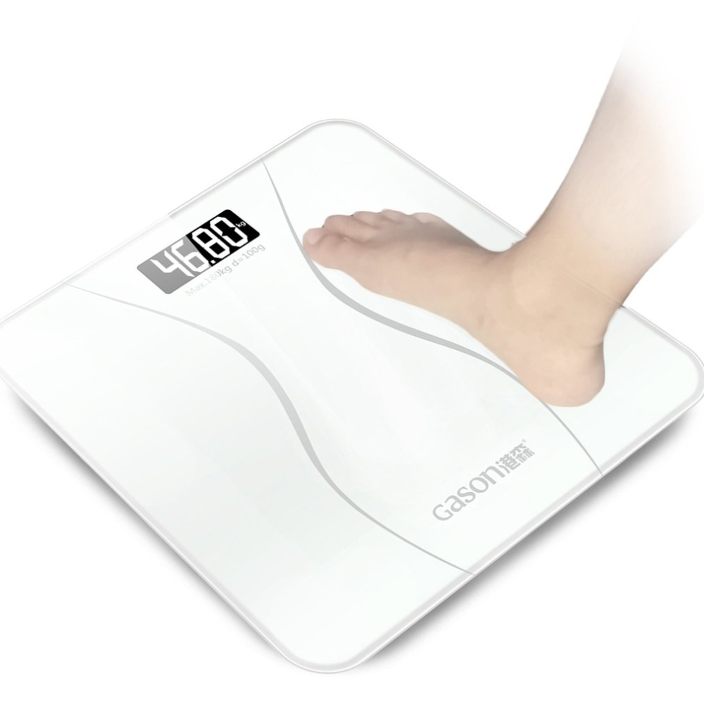 GASON A2 Professional High Precision LCD Display Household Bathroom Body Scales Electronic Digital Floor Weight Balance Scales 100g 0 1g lab balance pallet balance plate rack scales mechanical scales students scales for pharmaceuticals with weight tweezer
