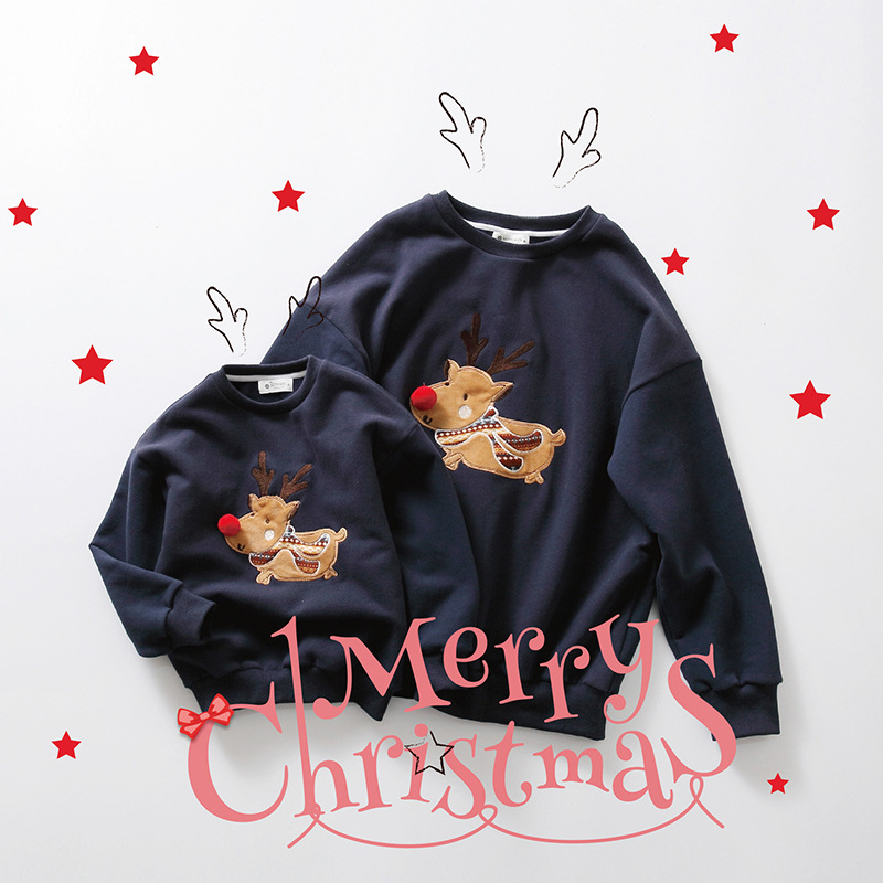 Family christmas font b sweaters b font family look mother and daughter clothes family matching clothes