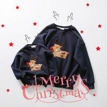 Family christmas sweaters family look mother and daughter clothes family matching clothes family clothing winter hoodies deer