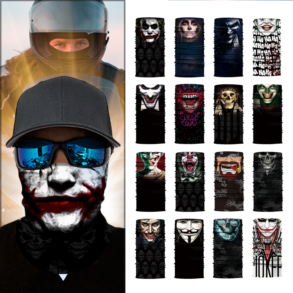 HEROBIKER Motorcycle Mask Balaclava Motorbike Skull Ride Costume Bandanas Halloween Mask Ghost Moto Face Mask Stock Clearance !