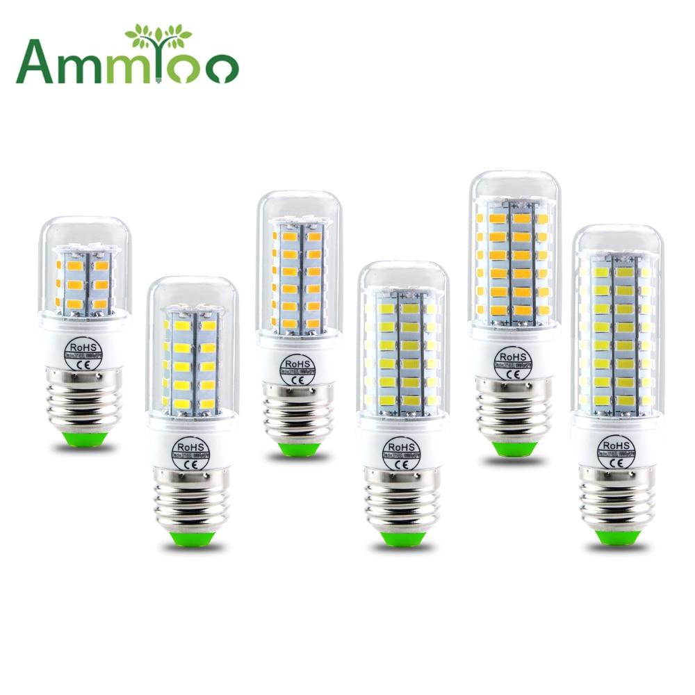 SMD 5730 E27 E14 LED лампа 5730smd светодиодные фонари Кукуруза Светодиодные лампы 24 36 48 56 69 72 светодиодов люстра свеча Освещение украшения дома