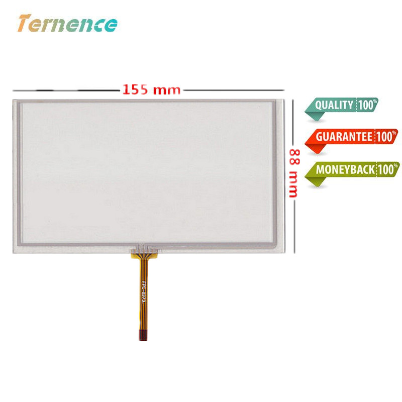 Skylarpu 2 Pcs Of Original New 6.2 Inch Touch Panel 6.2 Inch 155mm*88mm Digitizer For Navigation DVD Touch Screen Free Shipping