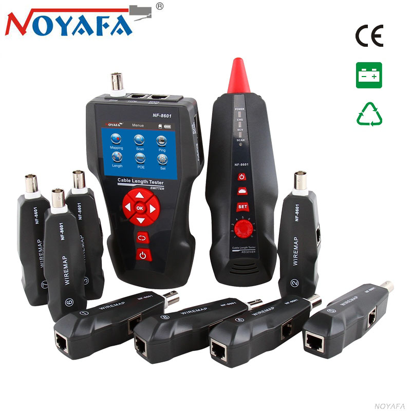 Original Noyafa NF 8601W LAN Network Cable Tester LCD Phone Telephone Wire Tracker for PING POE